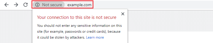 No ssl cerificate